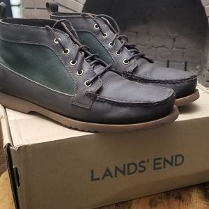 Lands End Leather Chukka Boots